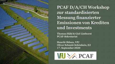 D/A/CH Workshop with VfU: Standardized measurement of financed emissions from loans and investments (in German)