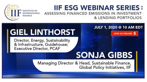 ESG webinar series by the Institute for International Finance