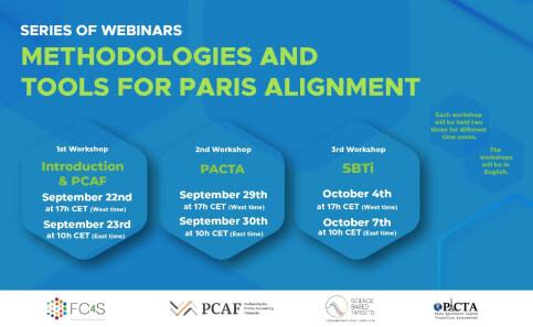 Series of Webinars on Methodologies and Tools for Paris Alignment