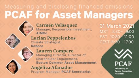 Measuring and disclosing financed emissions: PCAF for Asset Managers